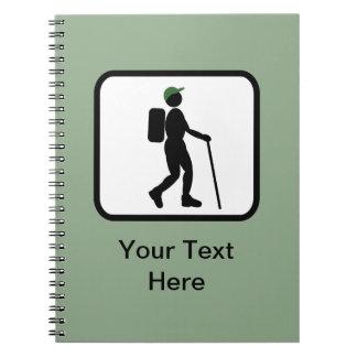Customizable Hiker Logo Notebook
