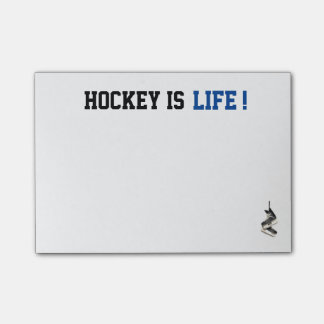 Customizable Hockey is Life Post It's Post-it® Notes