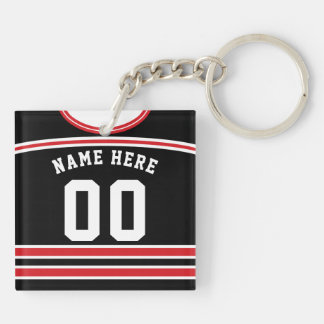 Customizable Hockey Jersey Keyring, Lacrosse Key Ring