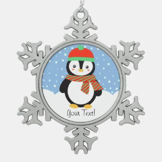 Customizable Holiday Penguin Ornament