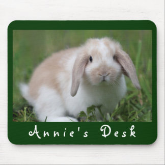 Customizable Holland Lop Bunny Mouse Mat