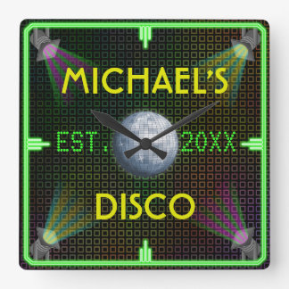 Customizable Home Bar 1970's Disco Ball Clocks