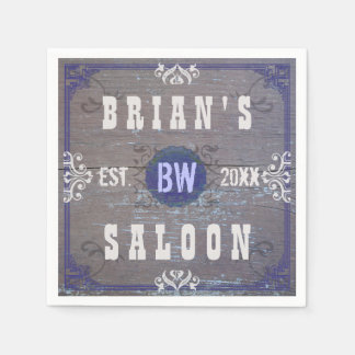 Customizable Home Bar Beer Saloon Paper Napkins