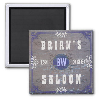 Customizable Home Bar Beer Saloon Square Magnet