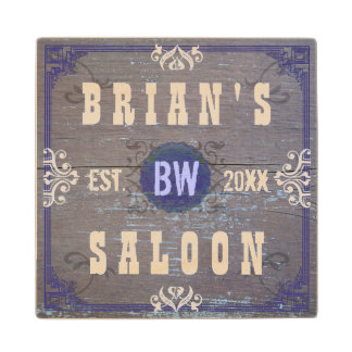 Customizable Home Bar Beer Saloon Wood Coaster