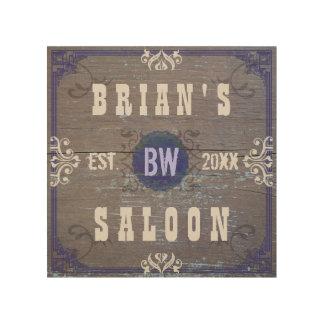 Customizable Home Bar Beer Saloon Wood Wall Art