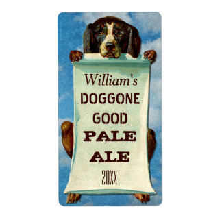 Customizable Home Beer Brewer: Vintage Dog Shipping Label
