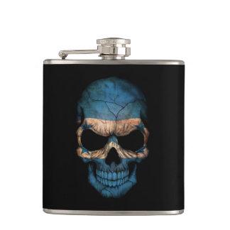 Customizable Honduras Flag Skull Flasks