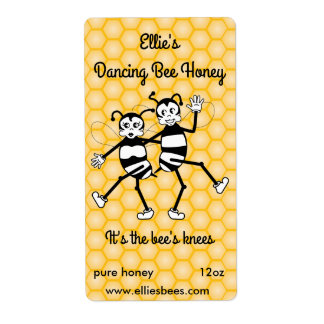 Customizable honey bottle label