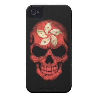 Customizable Hong Kong Flag Skull Case-Mate iPhone 4 Cases