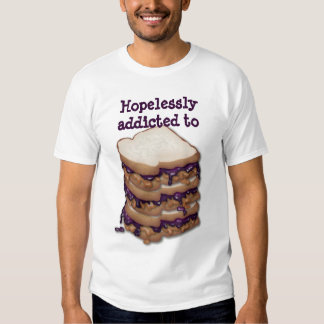 Customizable Hopelessly addicted to PBJ Sandwiches T-shirt