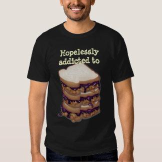 Customizable Hopelessly addicted to PBJ Sandwiches Tshirts