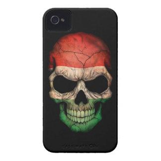 Customizable Hungarian Flag Skull iPhone 4 Case