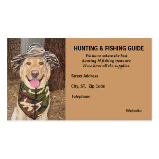 Customizable Hunting Fishing Guide Business Card Templates