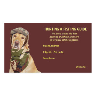 Customizable Hunting/Fishing Guide Pack Of Standard Business Cards