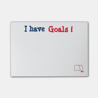 Customizable I have Goals Post It's Post-it® Notes