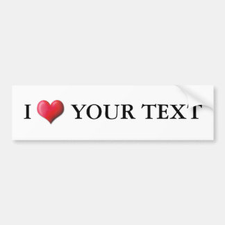 Customizable I Heart Bumper Sticker 0001