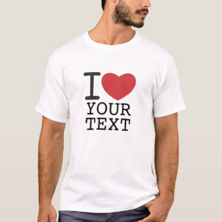 customizable I HEART SHIRT