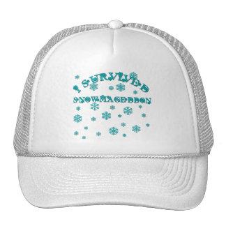 Customizable I SURVIVED SNOWMAGEDDON Hats