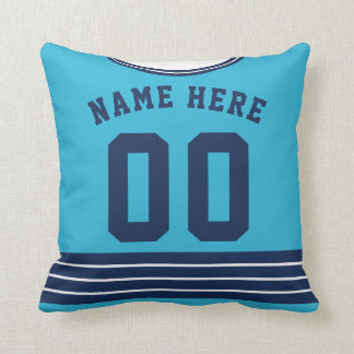 Customizable Ice Hockey Jersey Pillow Cushion