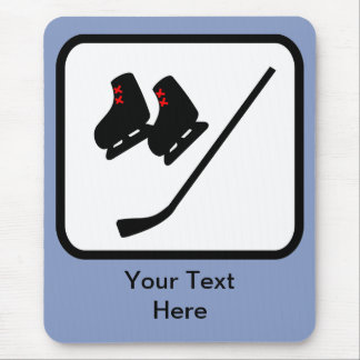 Customizable Ice Hockey Logo Mouse Mat