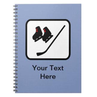 Customizable Ice Hockey Logo Notebook