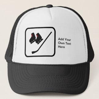 Customizable Ice Hockey Logo Trucker Hat