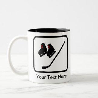 Customizable Ice Hockey Logo Two-Tone Coffee Mug