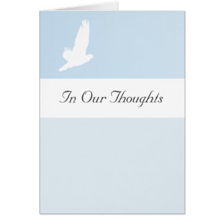 Customizable In Our Thoughts Prayers Sympathy Cards