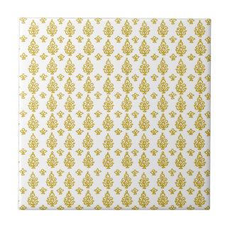 Customizable India Block Print Small Square Tile