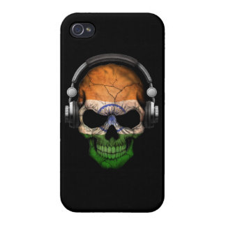 Customizable Indian Dj Skull with Headphones iPhone 4/4S Covers