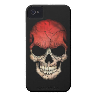 Customizable Indonesian Flag Skull iPhone 4 Case