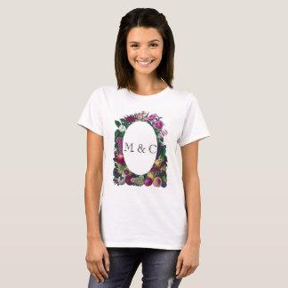 Customizable Initials Vintage Frame T-shirt