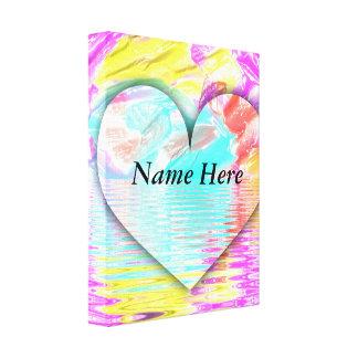 Customizable Inspirational Pretty Chic Heart Shape Canvas Print
