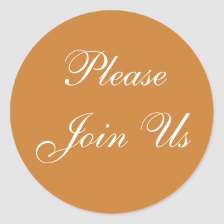 Customizable Invitation Bronze Round Sticker