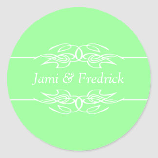 Customizable Invites Mint Green Round Sticker
