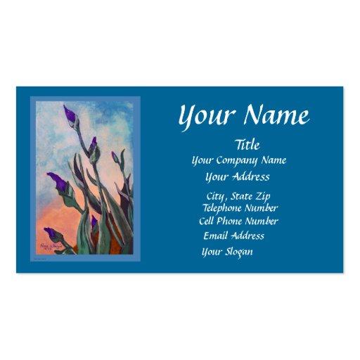 Customizable Iris Buds Blue Business Card
