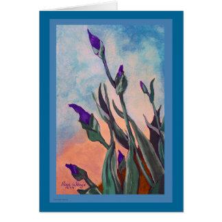 Customizable Iris Buds Greeting Card
