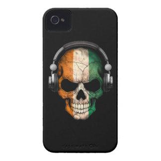 Customizable Ivory Coast Dj Skull with Headphones iPhone 4 Cover
