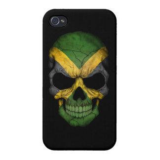Customizable Jamaican Flag Skull iPhone 4 Case