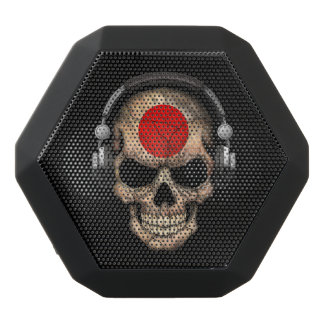 Customizable Japanese Dj Skull with Headphones Black Boombot Rex Bluetooth Speaker