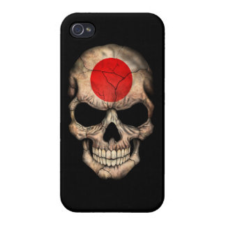 Customizable Japanese Flag Skull iPhone 4/4S Cover