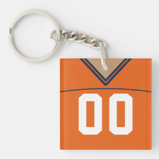 Customizable Jersey Keyring, Football Lacrosse Key Ring
