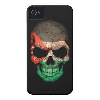 Customizable Jordanian Flag Skull Case-Mate iPhone 4 Cases