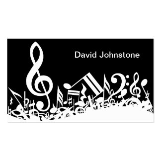 Customizable Jumbled Musical Notes Business Cards