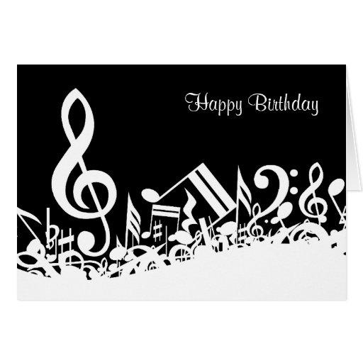 Customizable Jumbled Musical Notes Card