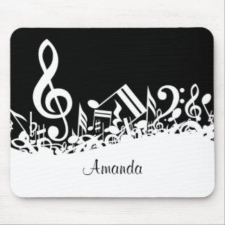 Customizable Jumbled Musical Notes Mousepad