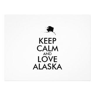 Customizable KEEP CALM and LOVE ALASKA 21.5 Cm X 28 Cm Flyer