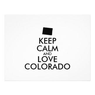 Customizable KEEP CALM and LOVE COLORADO 21.5 Cm X 28 Cm Flyer