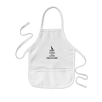 Customizable KEEP CALM and LOVE DELAWARE Kids Apron